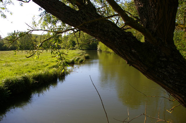 Looking down the eastern channel of the Cherwell at Parson's Pleasure