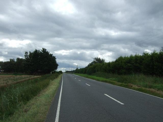 Manea Road near Latchesfen Farm