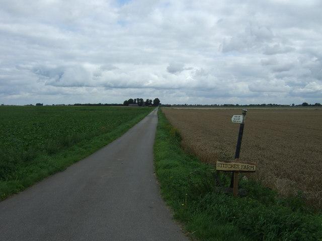 Track to Stitches Farm