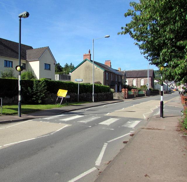 Zebra crossing, Main Road, Gilwern