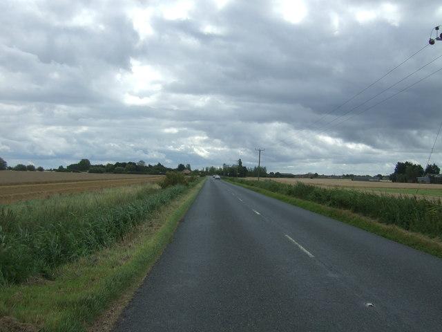 Wimblington Road (B1093) near Ghant Farm