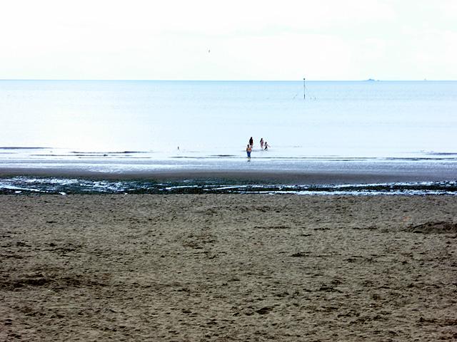 On the beach at Par Sands