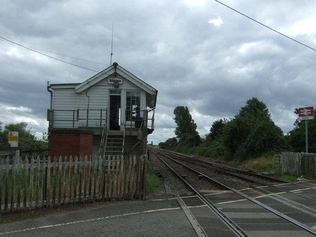 Signal box and level crossing, Manea Railway Station