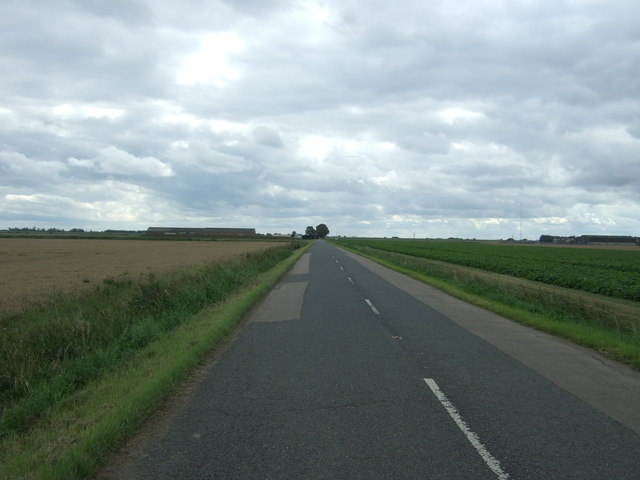 Looking south east on the B1093