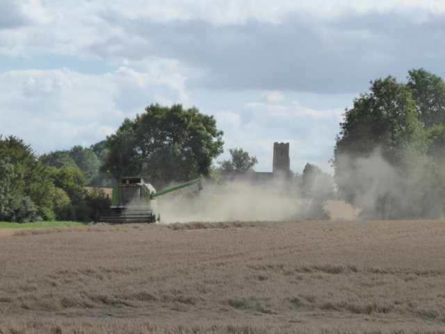 Harvesting with Monewden Church beyond