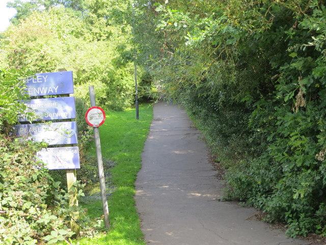 Ripley Greenway leaving Peasehill