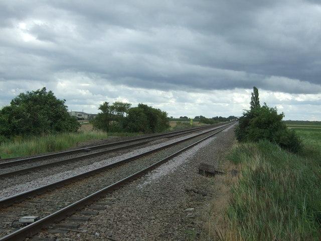 Railway towards Ely