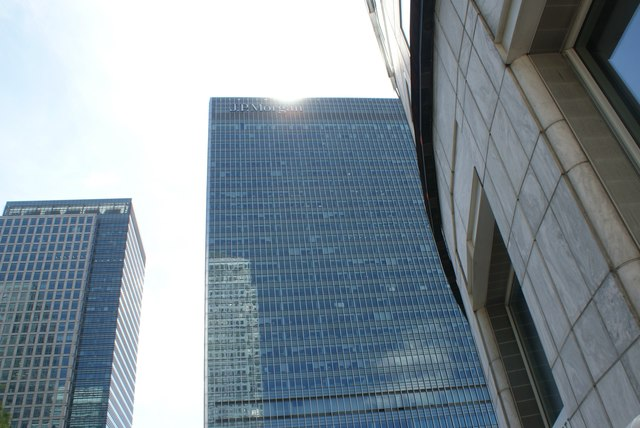 View of the J. P. Morgan building from outside The Slug and Lettuce
