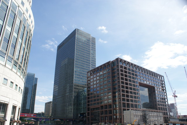View of the J.P. Morgan and Morgan Stanley buildings from Mackenzie Walk