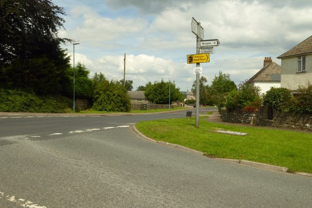 Road junction in St Briavels