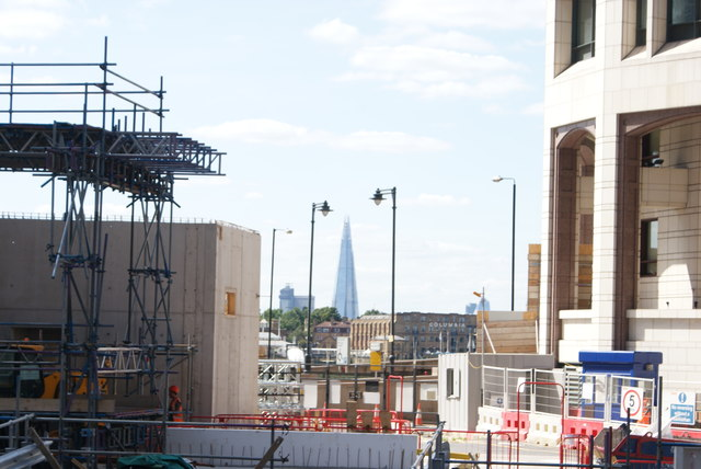 View of the Shard from Mackenzie Walk