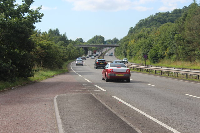 A4042 southbound to M4