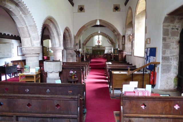 Interior of Hewelsfield church