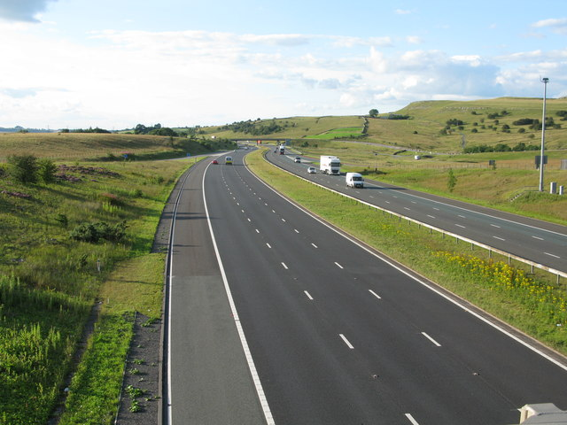 M6 at Junction 39 - Looking North