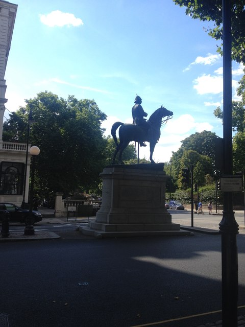 Statue on Queens Gate, Kensington