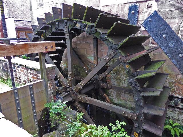 Brindley Mill, Leek - waterwheel