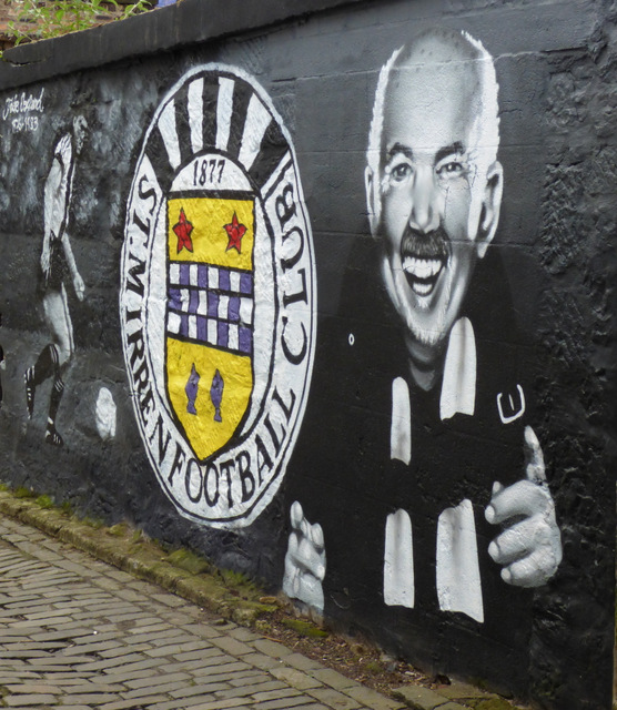 St Mirren FC Mural on Brown's Lane
