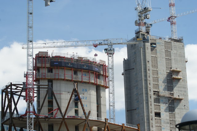 View of the Newfoundland construction site from the Thames Path #2