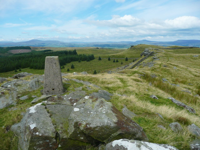 The triangulation pillar on Whelp Stone Crag, Rathmell