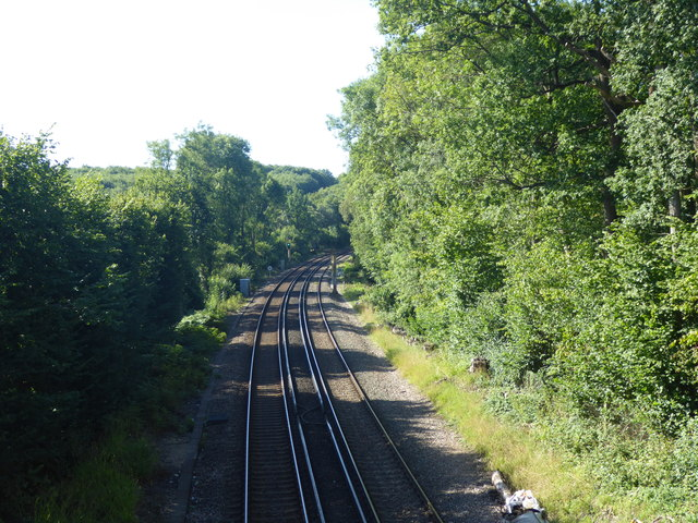 The Hastings Line seen from Vauxhall Lane