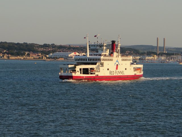 Car ferry heading out of Cowes, Isle of Wight