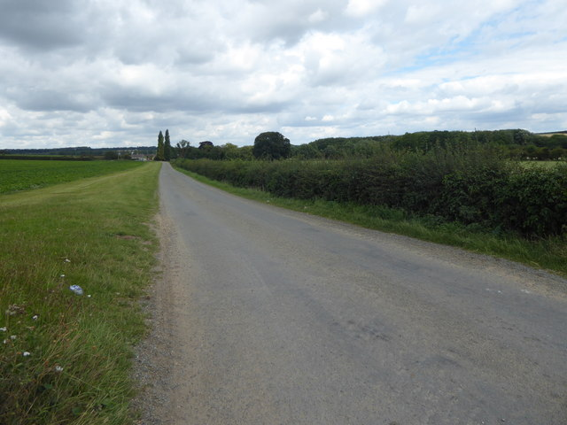 Access road to Waterloo Farm