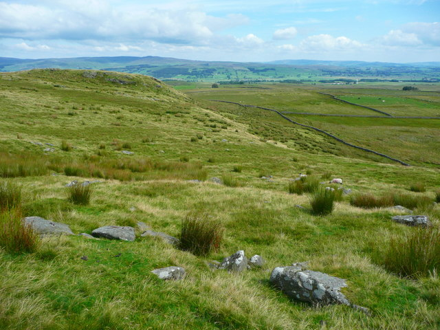 Looking down from Whelp Stone Crag towards the footpath to Whelpstone Lodge