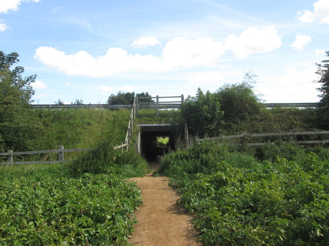 Motorway underpass between Cusworth and Sprotbrough