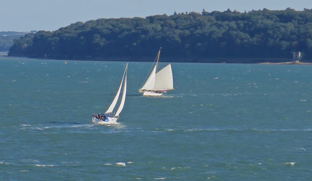 Sailing off Cowes