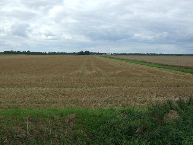 Stubble field off Byall Fen Drove