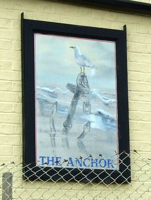 Sign for the former Anchor Inn, Horseway
