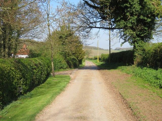 View along White Lane