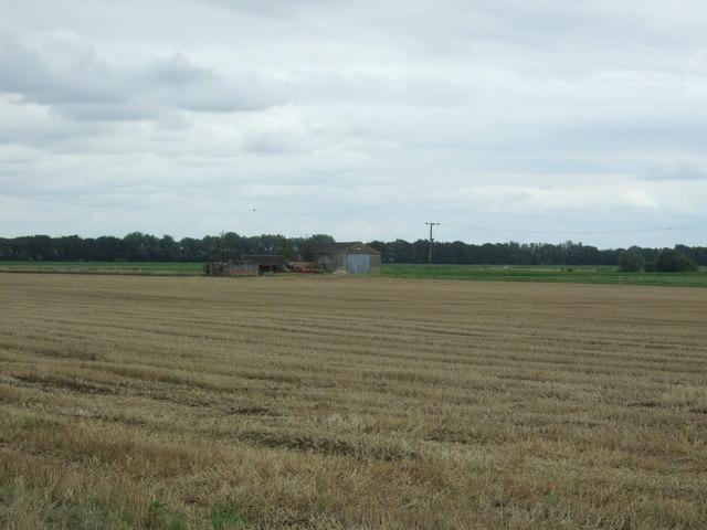 Stubble field off Langwood Fen Drove