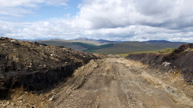 Road for wind farm in the making