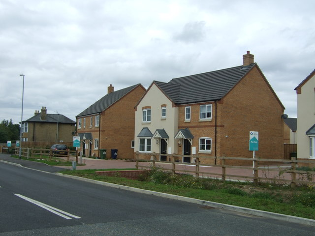 New houses on New Road, Chatteris
