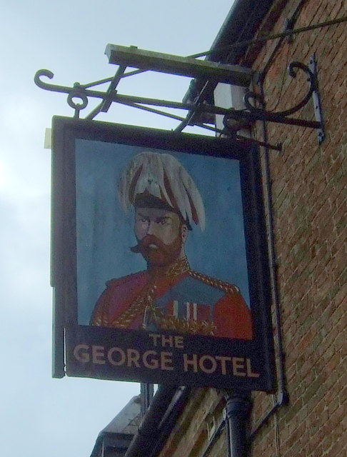 Sign for the George Hotel, Chatteris
