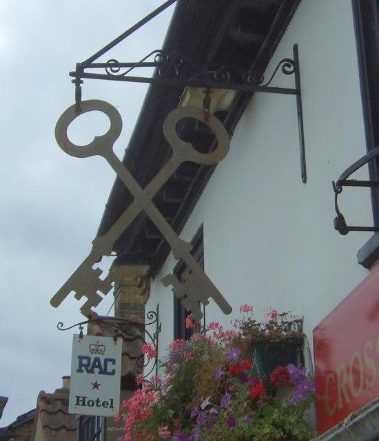 Sign for the Cross Keys Hotel, Chatteris