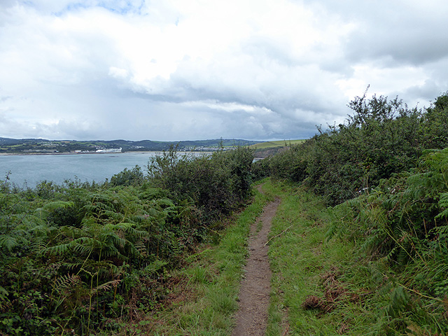 The South West Coast Path near Hambland