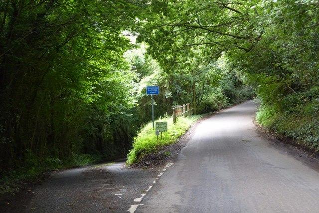 Road junction near Hewelsfield