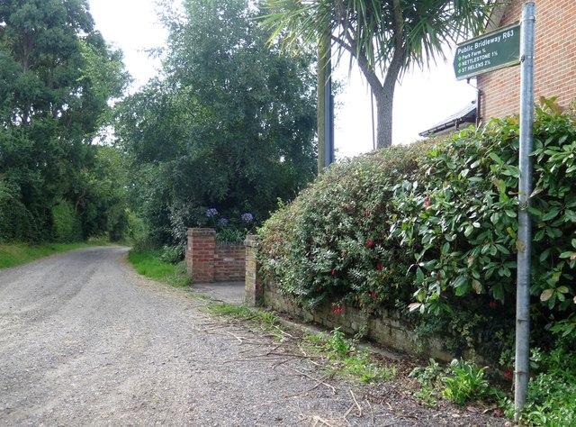 Public Bridleway R63 towards Nettlestone, Isle of Wight