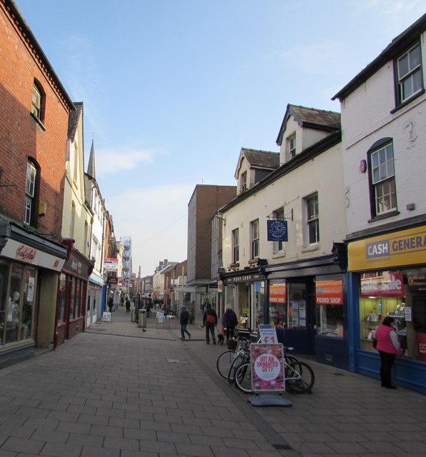 Eign Street, Hereford city centre