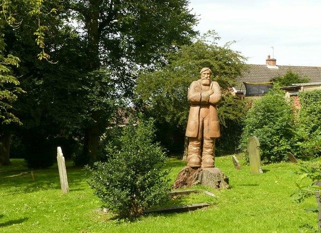Statue of Samuel Taylor, Stanton Road, Cemetery, Ilkeston