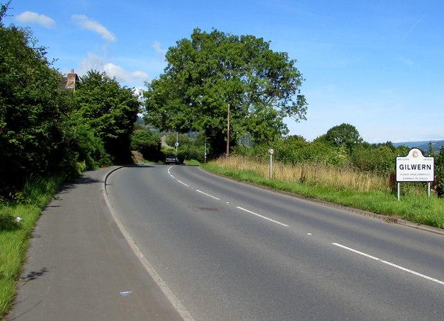 Eastern boundary of Gilwern