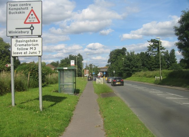 Bus stop on Worting Road