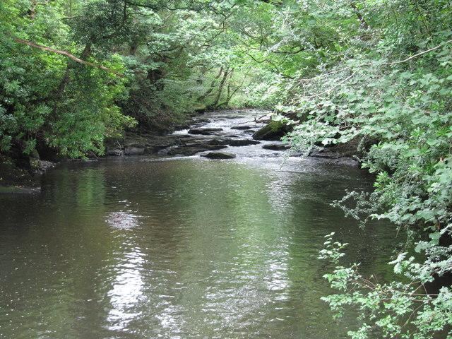 The Dulais above Aberdulais Falls