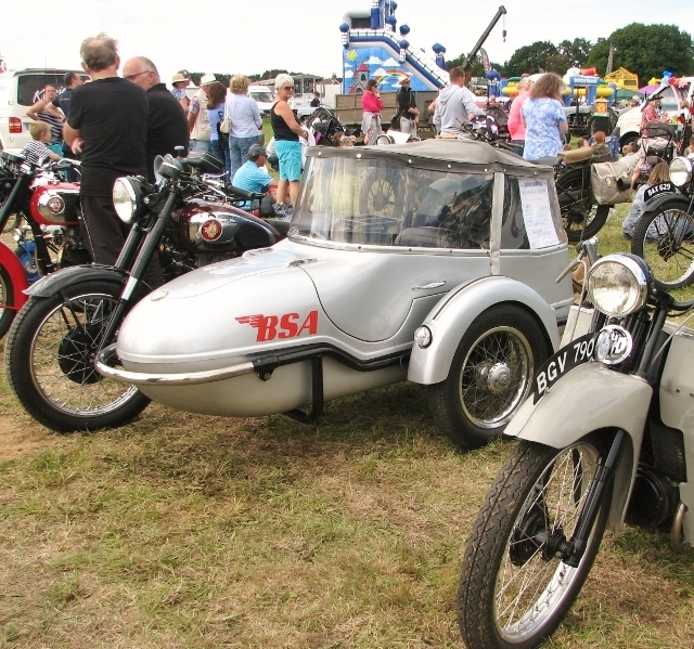 1953 BSA M21 with sidecar