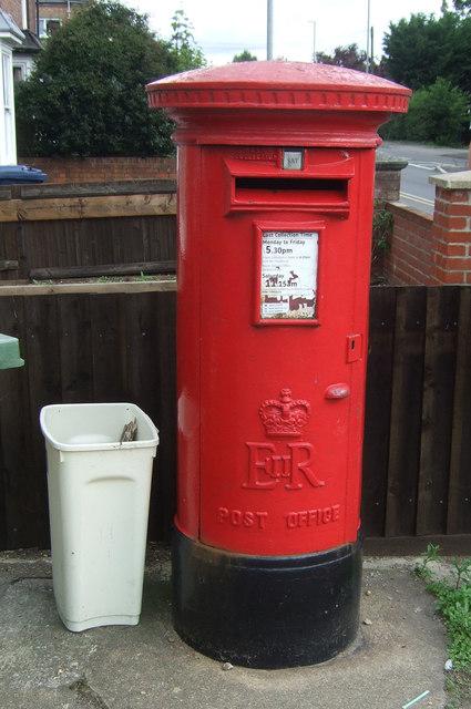 Elizabeth II postbox on Station Road, March