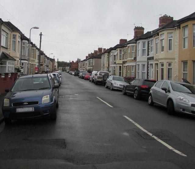 On-street parking, London Street, Newport