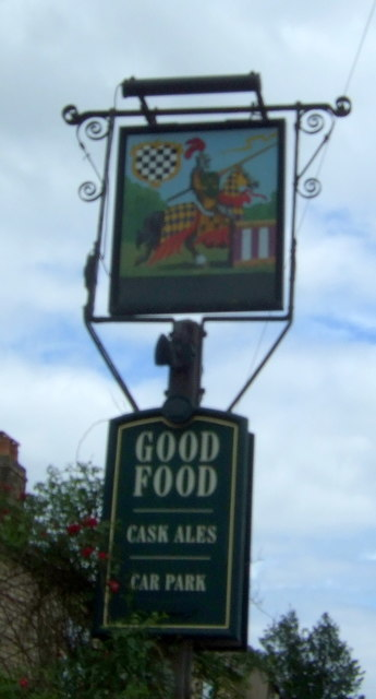 Sign for the Chequers public house, Sutton-in-the-Isle