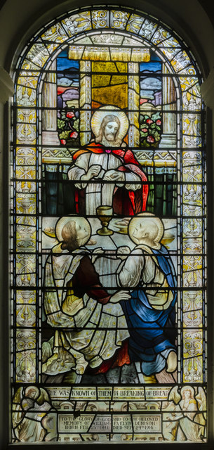 Stained glass window. Holy Rood Church, Ossington